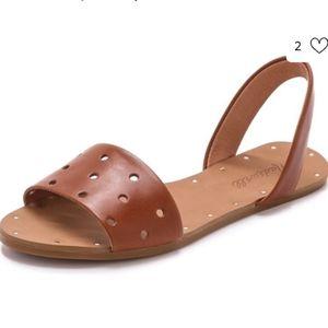 Madewell Abbi slingback sandal in hole punch. 7.5